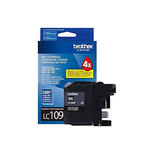 Price comparison product image Brother Printer Ultra High GJiOD Yield Inkjet Cartridge, Black (2 Pack)