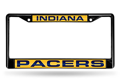 Indiana Pacers Nba Car - Rico Industries NBA Indiana Pacers Laser Cut Inlaid Standard Chrome License Plate Frame, 6