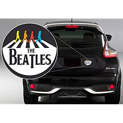 GI The Beatles Decal Sticker Vinyl | Beatles Band | The Best Band Songs | Cars Walls Laptops | Premium Quality | White | 6.5