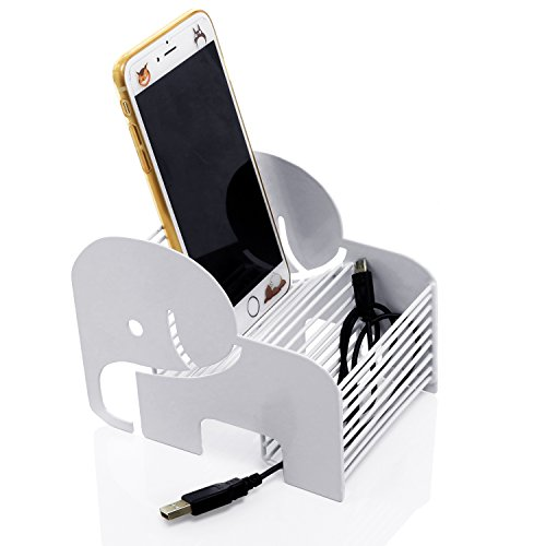 MyGift Modern Metal Elephant Shaped Cell Phone Stand and Accessory Holder, -