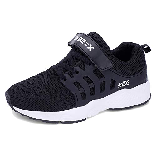 badc64b18ef99 Luyosn Kids Sport Shoes Girls Breathable Light Mesh Sneakers Walking Shoes  for Boys Black 2.5 M