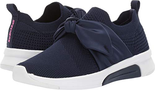 Skechers Kids Girl's Modern Jogger Debbie 89800L (Little Kid/Big Kid) Navy 3 M US Little Kid