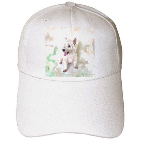 Dogs West Highland Terrier - Westie - Caps - Adult Baseball Cap (cap_4015_1) (Hat Westie)