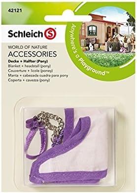 Schleich - Manta y cabezada cuadra para Pony, Set de Accesorios (42121)
