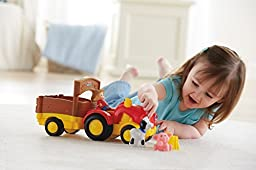 Fisher-Price Baby Little People Tow \'n Pull Tractor
