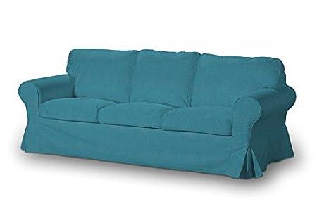 Charmant Dekoria Fire Retarding Ikea Ektorp 3 Seater Sofa Cover   Turquoise/teal