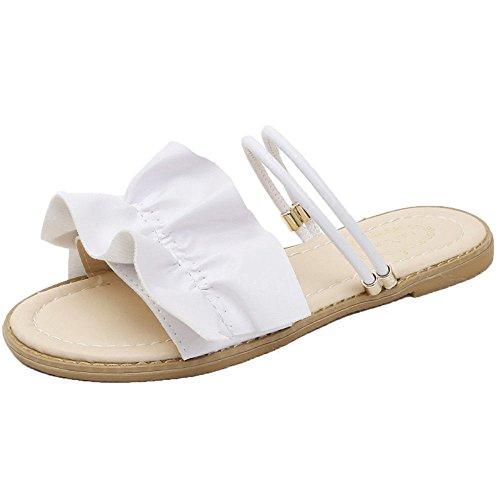 Cinco Slippers Sra Blanco USA White en La Dos Pequeños Verano Y Treinta qZv7Exw
