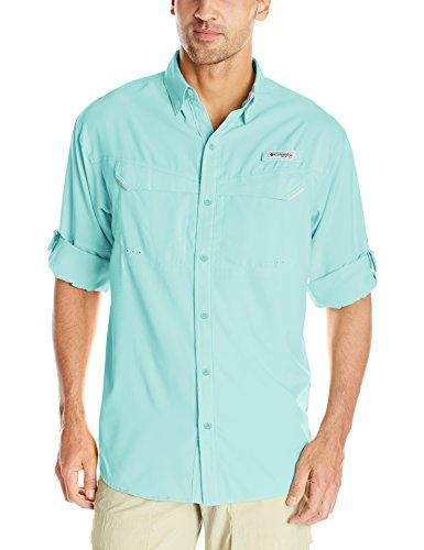 (Columbia Sportswear Men's Low Drag Off Shore Long Sleeve Shirt, Gulf Stream, XX-Large)