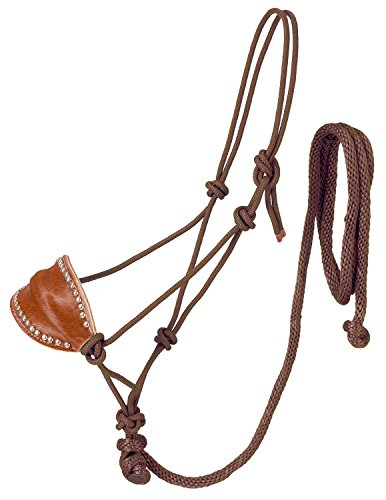 Tough 1 Poly Rope Halter W/Horsehair Bronc Nose & Lead, ()