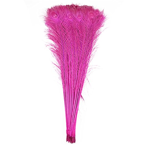 100pcs 100% Natural Peacock Feathers Fade Rose 80-90CM/32-36inch for DIY Costume mask Headdress -