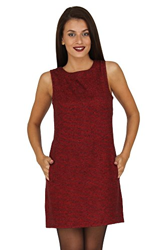 20Dresses Womens Houndstooth Twill Shift Short Dress with Pockets X-Large - Shift Houndstooth