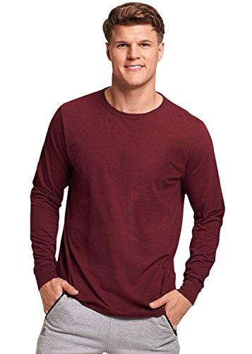 - Russell Athletic Men's Essential Long Sleeve Tee, Maroon, 3XL