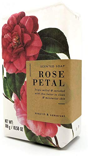 Asquith & Somerset Rose Petal Scented Moisturizing Triple Milled Soap 10.58 oz