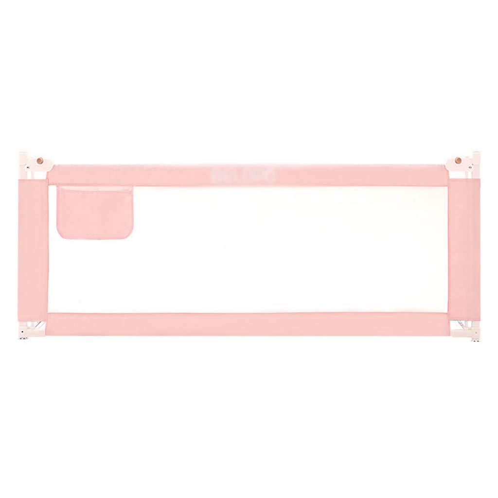 CSQ アンチフォールズフェンス、ベッドルーム大きなベッドベッドサイドベビークロールベッドに移動保護フェンス家庭防止ガードレール、1.5-2.2M 子供の遊び場 (色 : ピンク, サイズ さいず : 150*90CM) 150*90CM ピンク B07S9DF763