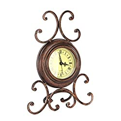 grte Seat Retro Iron Zhong Shiying Watch Home Office Table Clock Alarm Clock Muted and Interiors