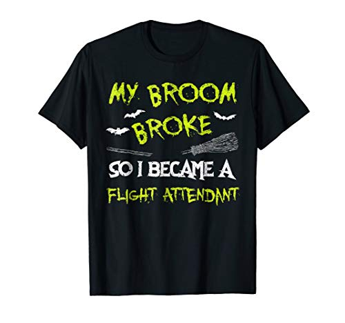 Flight Attendant Halloween Costume Shirt Funny Easy Lazy -