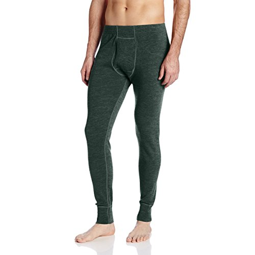Minus33 Merino Wool Men's Kancamagus Midweight Bottom, Forest Green Heather, Large