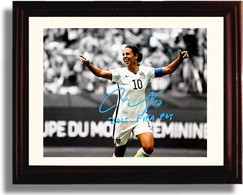 Framed Carli Lloyd Player of The Year US Women's Soccer Autograph Replica Print