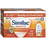 Similac Sensitive Ready to Feed Infant Formula w/Iron (32 oz. bottles, 8 pk.)