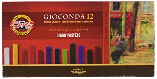 Koh-i-noor Gioconda - 12 Square Hard Pastels. - Hard Pastel