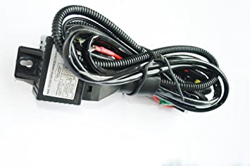 41%2BmveNyMDL._SX355_ amazon com 35w 12v hid xenon h4 9003 hi lo controller relay 12v/55w wiring harness controller at eliteediting.co