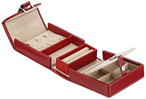281204 Heritage Red Travel Mini Foldout Jewelry-Box from WOLF