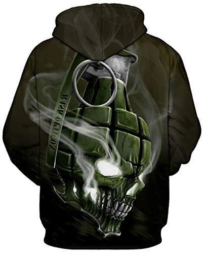 Pull Grenade À Homme Hoodie Sweat Créatif Sportif Manches Unisexe Décontracté Realistic Drawstring Imprimé Longues 3d Socluer Pullover Capuche T71qUww