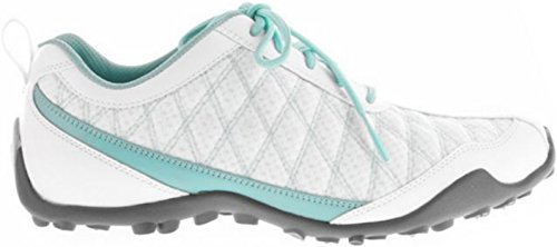 FootJoy Womens Summer Series Spikeless Golf Shoes (9, White/Aqua) (Footjoy Golf Shoes Spikeless)
