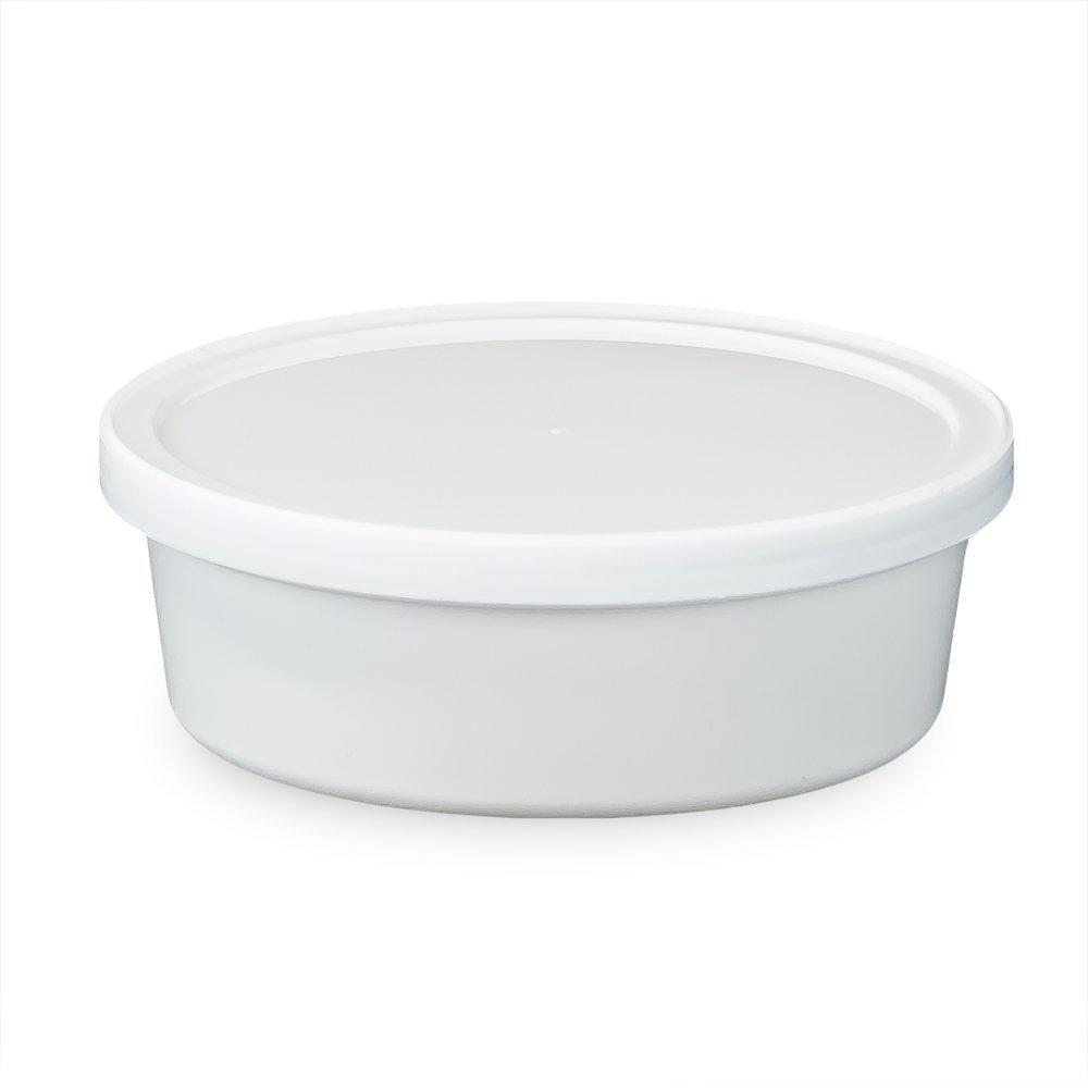 食品用容器とふた 円形 8オンス さまざまな色/ふたの種類/数量でご用意Recessed Tamper Resistant MPT41008CP-779729_L410RTR-182090QTY50 B01KKFS1YG Recessed Tamper Resistant|White 50 Pack