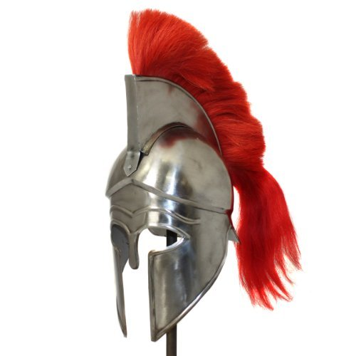 Gladiator Helmet Replica - EcWorld Enterprises 8880632A Antique Replica Corinthian Red Plume Armor Helmet