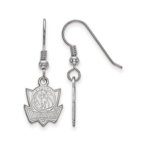 NBA Dallas Mavericks Small Dangle Earrings in Sterling Silver by LogoArt