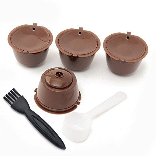 TOOGOO - Cápsula de café con cepillo de cuchara, rellenable y ...