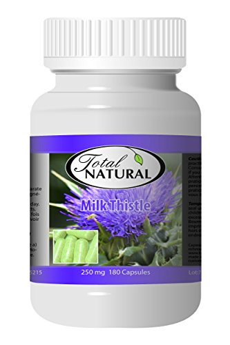 Milk Thistle 250mg 180c - [12 bottles] Liver Care by Total Natural