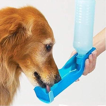 L-FENG-UK Pet Dog Cat Water Drinking Dispenser Portable Plastic Travel Pet Drink Bottle 500ML