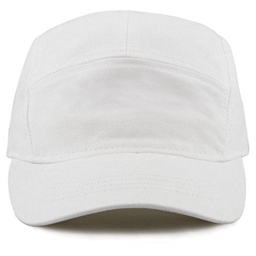 white 5 panel hat - 2