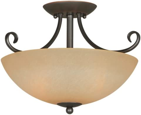 Hardware House 543769 Berkshire 14-1 2-Inch by 10-Inch Ceiling Light Fixture, Classic Bronze