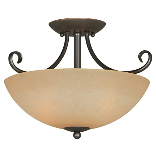 Hardware house 543769 berkshire 14 1 2 inch by 10 inch ceiling light fixture classic bronze