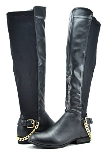 DREAM PAIRS MITTAL-1 Women's Fashionable Stretch Back Panel Side Zipper Boots Image