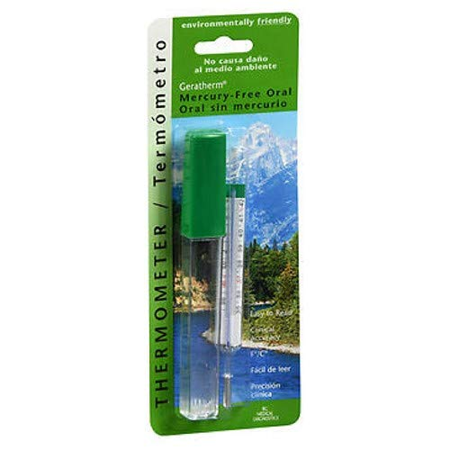 Mercury Glass Thermometer - Geratherm Thermometer Oral Mercury Free 1 Each (Pack of 2)