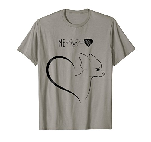 Chihuahua Formula - Funny Chihuahua t-shirt, Formula Of Heart Is Me And My Doggy