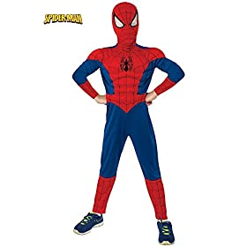 - 41 2BmynBBQOL - Rubie's Marvel Ultimate Spider-Man Deluxe Muscle Chest Costume