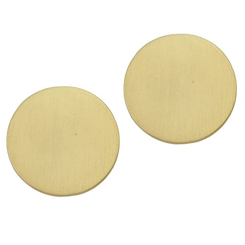 Feelontop Pop Punk Gold Tone Metal Disc Big Round Stud Earrings Fashion Women Piercing Favor with Jewelry Pouch