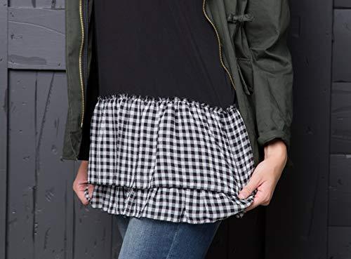Peekaboo-Chic Cottage Check Half Slip Skirt Extender (Black, l/XL) by Peekaboo-Chic (Image #8)