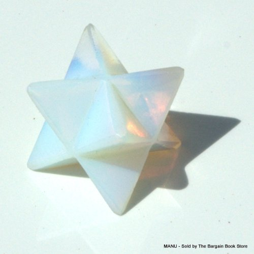 Opalite Merkaba Star - The Sea Opal - Designed with Splendor - Ambers to Blues