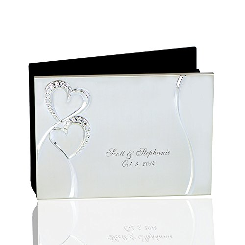 Thanh 39 Personalized Gifts -Silver Photo Album w. Crystal Hearts