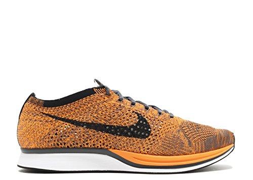 Nike Unisex Flyknit Racer Löparskor Totala Orange, Vitt-mörk