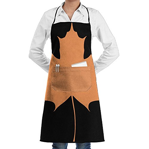 RZ GMSC Novelty Maple Leaves Kitchen Chef Apron With Big Pockets - Chef Apron For Cooking,Baking,Crafting,Gardening And ()