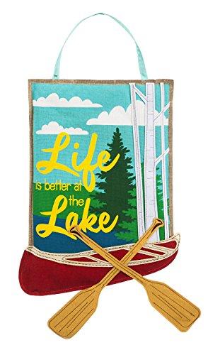 Evergreen Life at the Lake Outdoor Safe Burlap Door - Pembroke Lakes At