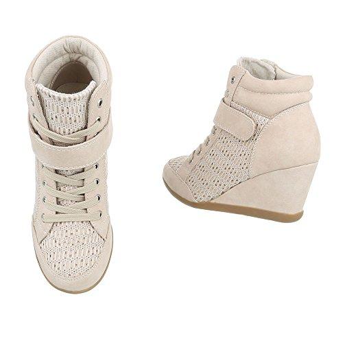 Design Ital Plataforma Beige Zapatillas 876 High Y Zapatos Zapatillas mujer para xAtq8w0Y