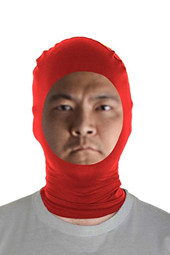 Costumes And Dancewear Inc (Marvoll Lycra Spandex Face Out Mask Hood Zentai Halloween Costumes (Kids, Red))